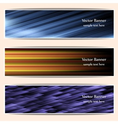 abstract web bannersheaders vector image