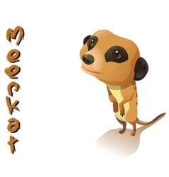 animal Meerkat vector image