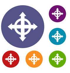 arrows target icons set vector image