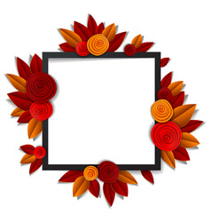 Autumn flowers and leaves beautiful background or vector