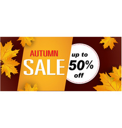 autumn sale up to 50 off image vector image