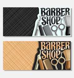 banners for barber shop vector image