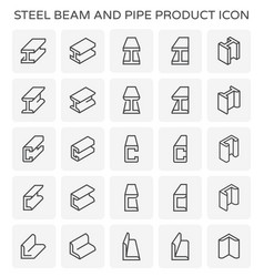 Beam pipe icon vector