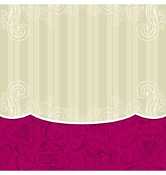 beige background with hand draw hearts vector image