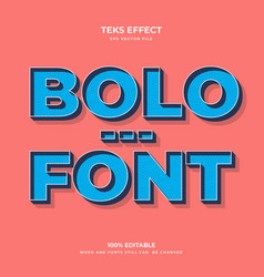Bolo font vector