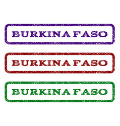 burkina faso watermark stamp vector image