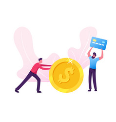 Businessman making and saving money male vector