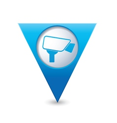 Camera icon map pointer blue vector