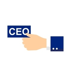 Ceo icon or symbol vector