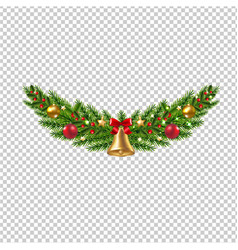 Christmas garland isolated transparent background vector