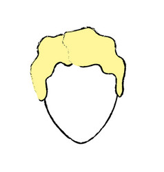 Cute man face with hairstyle vector