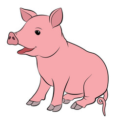 Cute pig cartoon eps 10 vector