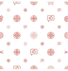 Dart icons pattern seamless white background vector
