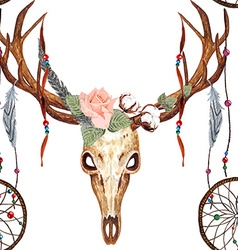 Deer skull pattern vector