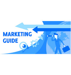 describing marketing guide and looks vector image