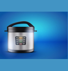 Electric pressure cooker vector