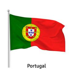 Flag portuguese republic vector
