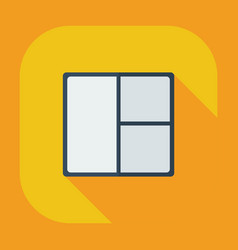 Flat modern design with shadow icons window vector