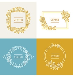 floral frame with copy space for text vector image