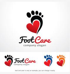 Foot care logo template design vector