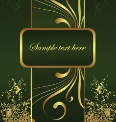 golden brochure vector image