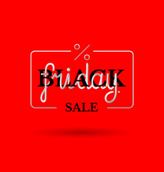 Hand drawing lettering black friday in black and vector