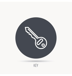 Key icon Door unlock tool sign vector image