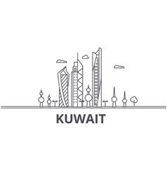 Kuwait architecture line skyline vector