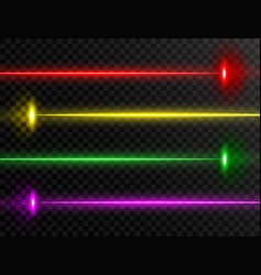 laser beam set colorful laser beam collection vector image