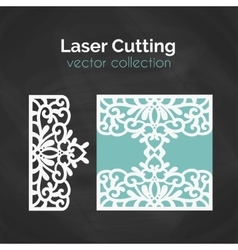 Laser cut template card for cutting cutout vector