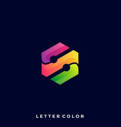 letter s design template vector image