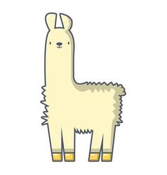 llama icon cartoon style vector image