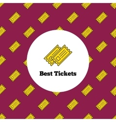 Logo Yellow theater or cinema tickets vector