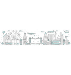 london skyline line cityscape vector image