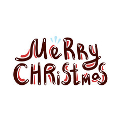 merry christmas phrase vector image