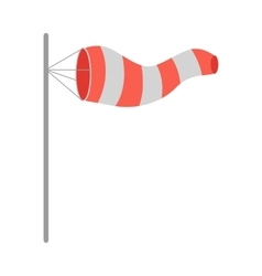Meteorology Windsock Inflated by Wind vector image