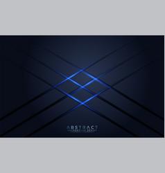 Modern dark navy background with blue light vector