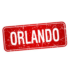 Orlando red stamp isolated on white background vector