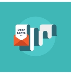 Paper letter with envelope Flat style Christmas vector image