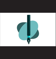 pencil pen design template isolated vector image