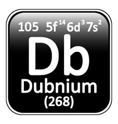 Periodic table element dubnium icon vector