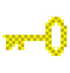 pixelated key icon vector image