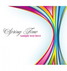 Rainbow spring background vector