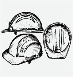 Safety helmet vector