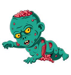 scary baby zombie cartoon vector image