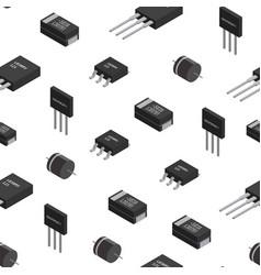 Seamless pattern of izometric electronic vector