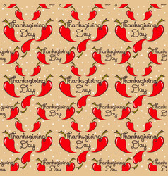 seamless pattern thanksgiving with pepper vector image