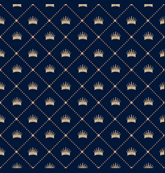 Seamless pattern with crown vector
