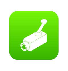 security camera icon green vector image