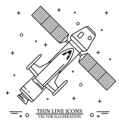 Ship flying in space on the white background vector